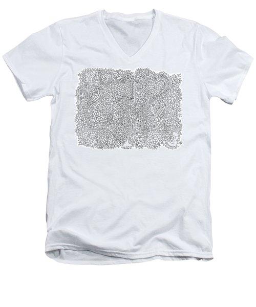Love Berlin Men's V-Neck T-Shirt by Tamara Kulish