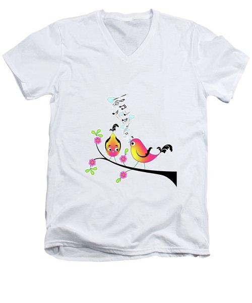 Love Bird Serenade Men's V-Neck T-Shirt