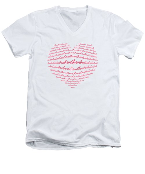 Love Boom Men's V-Neck T-Shirt by Scott Carruthers