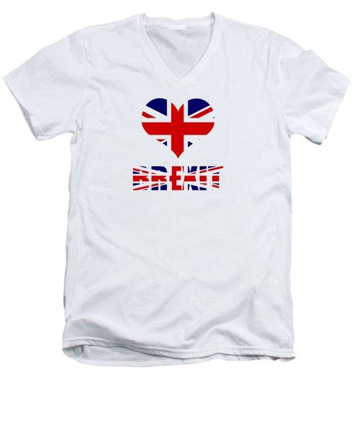 Love Brexit Men's V-Neck T-Shirt by Roger Lighterness