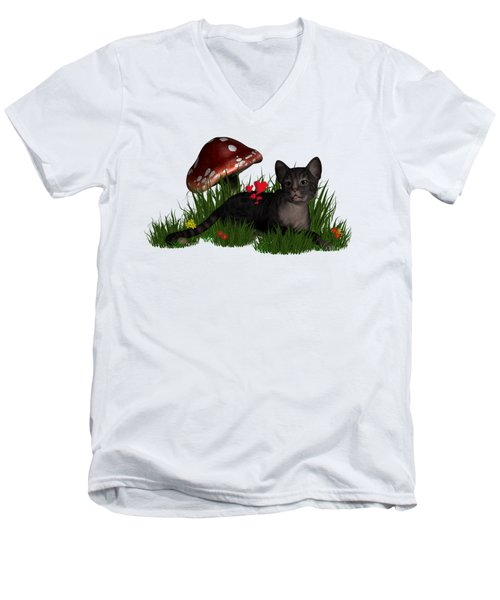 Love Cats Men's V-Neck T-Shirt