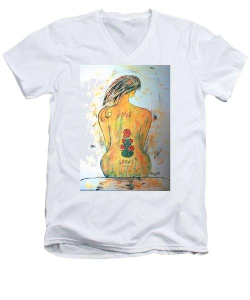 Love Grows.... Men's V-Neck T-Shirt