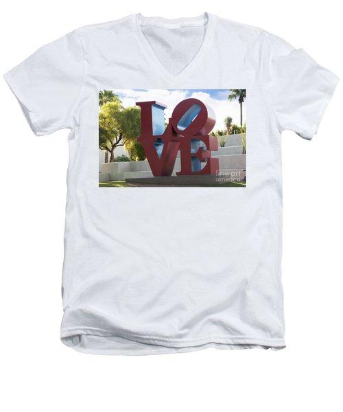 Love In The Park Men's V-Neck T-Shirt