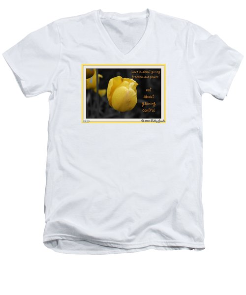 Love Is About Giving Men's V-Neck T-Shirt by Holley Jacobs