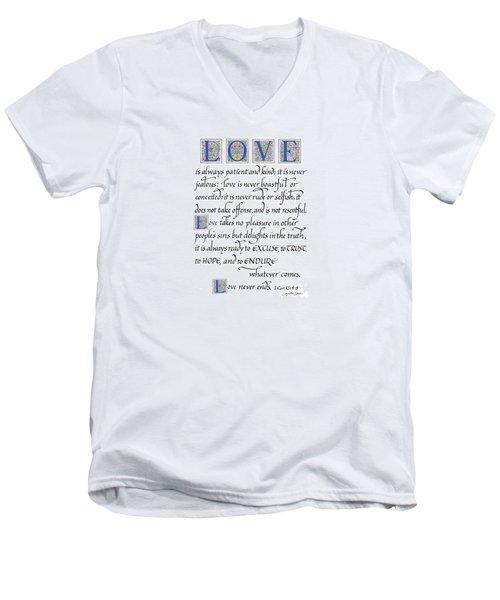 Love Is Always Patient Men's V-Neck T-Shirt