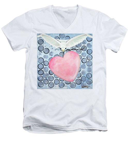 The Blessing Of The Dove Men's V-Neck T-Shirt