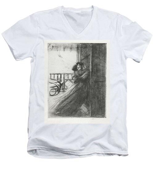 Love - La Femme Series Men's V-Neck T-Shirt