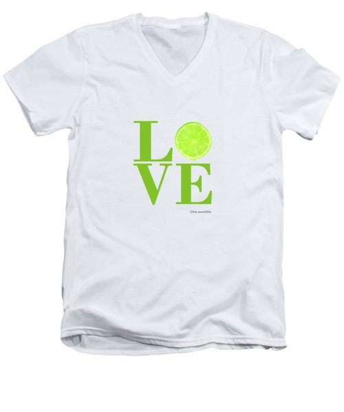 Love Lime Men's V-Neck T-Shirt