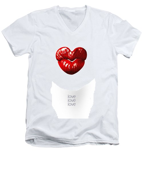 Love Poster Men's V-Neck T-Shirt