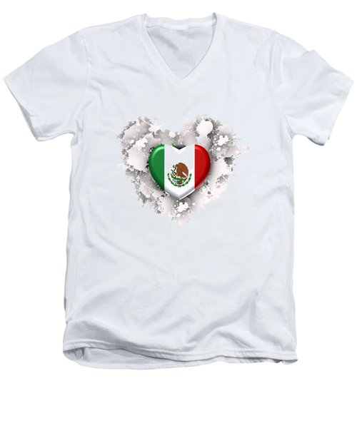 Love Mexico.1 Men's V-Neck T-Shirt