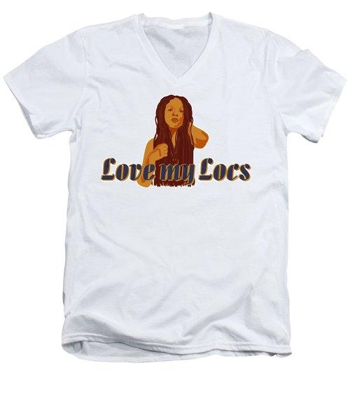 Love My Locs Men's V-Neck T-Shirt