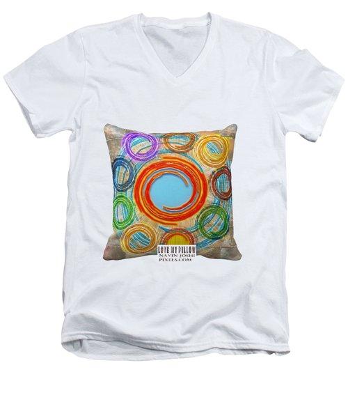 Love My Pillows Colorful Circles By Navinjoshi Artistwebsites Fineartamerica Pixels Men's V-Neck T-Shirt
