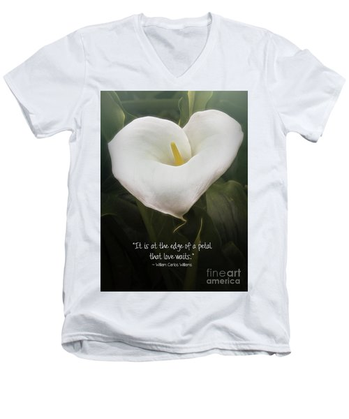 Men's V-Neck T-Shirt featuring the photograph Love by Peggy Hughes