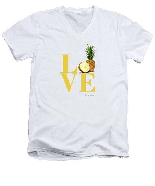 Love Pineapple Men's V-Neck T-Shirt