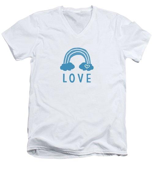 Love Rainbow- Art By Linda Woods Men's V-Neck T-Shirt