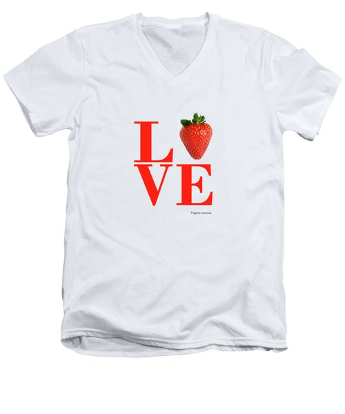 Love Strawberry Men's V-Neck T-Shirt