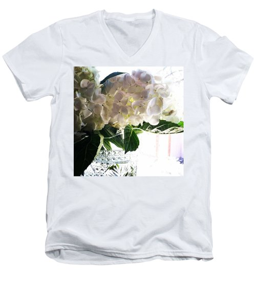 Love These Flowers! #happylaborday Men's V-Neck T-Shirt by Jennifer Beaudet