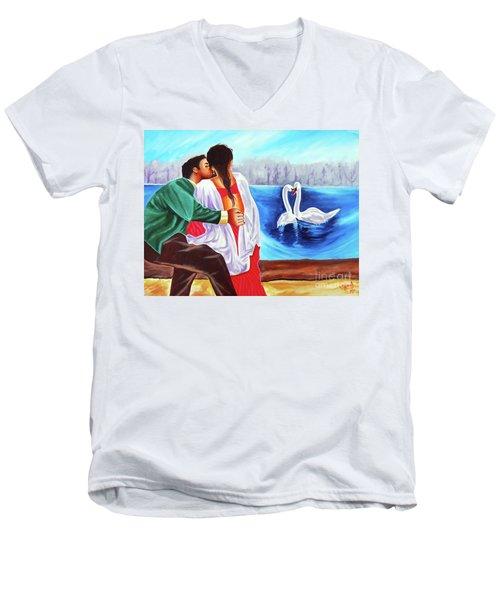 Love Undefined Men's V-Neck T-Shirt by Ragunath Venkatraman