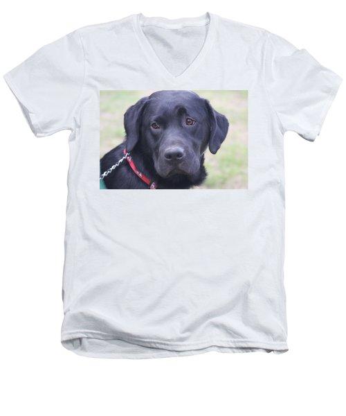 Love Unflinching Men's V-Neck T-Shirt by Vadim Levin