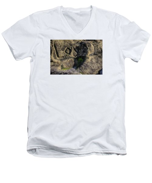 Love Written In Stone Men's V-Neck T-Shirt