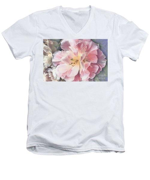 Loveliness Flower Men's V-Neck T-Shirt by Marsha Heiken