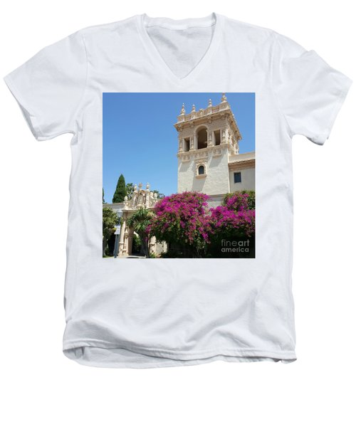 Lovely Blooming Day In Balboa Park San Diego Men's V-Neck T-Shirt by Jasna Gopic
