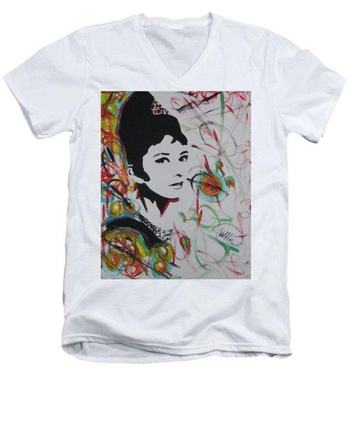 Lovely Hepburn Men's V-Neck T-Shirt