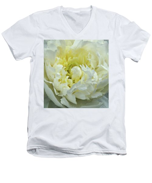 Men's V-Neck T-Shirt featuring the photograph Lovely Peony by Sandy Keeton