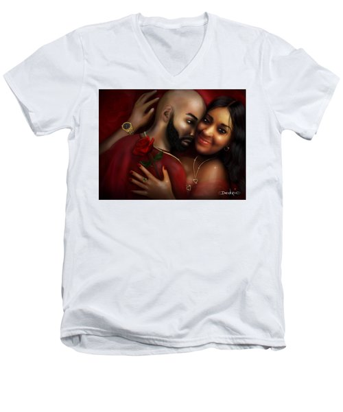 Lovers Portrait Men's V-Neck T-Shirt