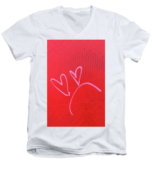 Men's V-Neck T-Shirt featuring the photograph Love's Disappointments by Art Block Collections