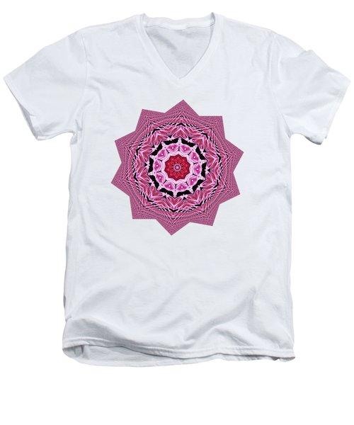 Loving Rose Mandala By Kaye Menner Men's V-Neck T-Shirt by Kaye Menner