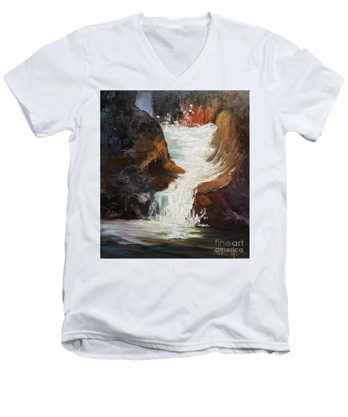 Lower Chasm Waterfall Men's V-Neck T-Shirt