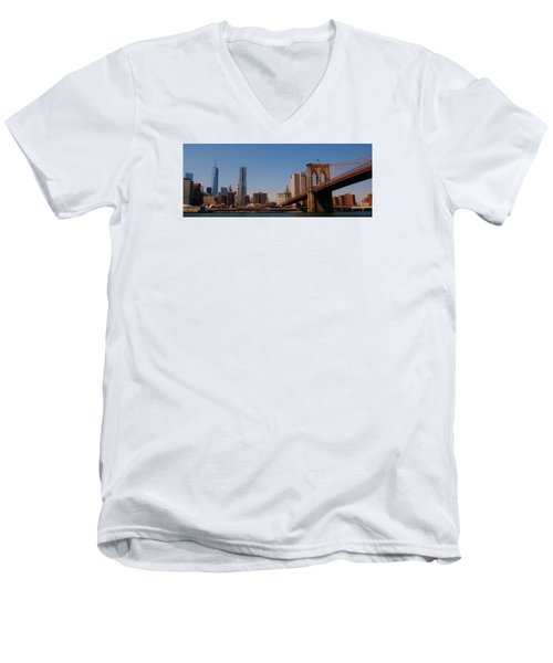 Lower Manhattan Nyc Men's V-Neck T-Shirt