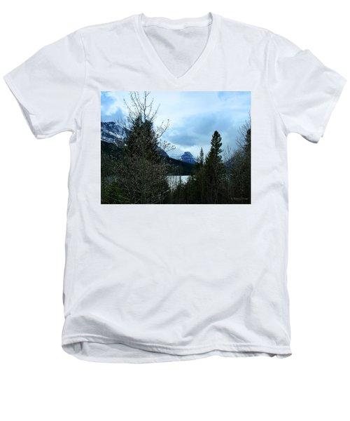 Lower Two Med Lake Through The Trees Men's V-Neck T-Shirt
