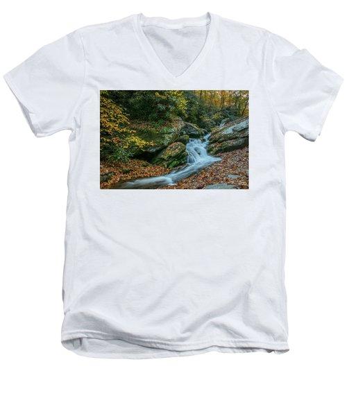 Lower Upper Creek Falls Men's V-Neck T-Shirt