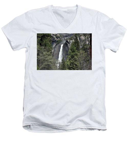 Lower Yosemite Falls Men's V-Neck T-Shirt