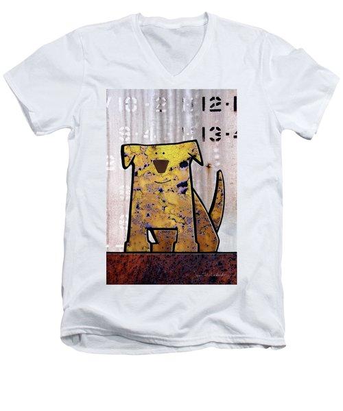 Loyal Men's V-Neck T-Shirt by Joan Ladendorf