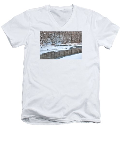 Loyalhanna Creek - Wat0100 Men's V-Neck T-Shirt by G L Sarti