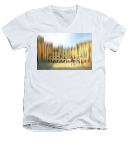 Lucca Ampitheatre Impression 1 Men's V-Neck T-Shirt by Marty Garland