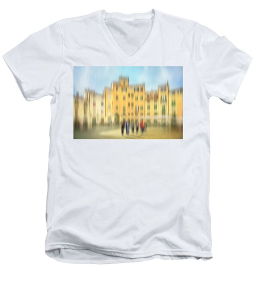 Lucca Ampitheatre Impression 2 Men's V-Neck T-Shirt by Marty Garland