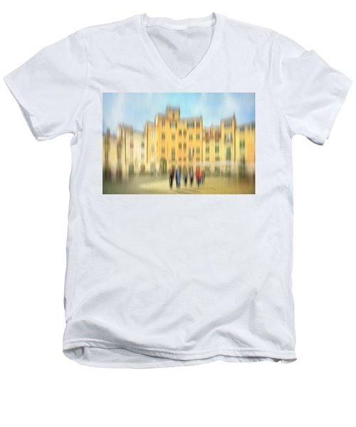 Lucca Ampitheatre Impression 2 Men's V-Neck T-Shirt