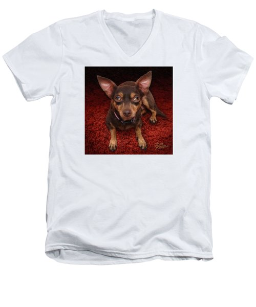 Lucy Men's V-Neck T-Shirt by Doug Kreuger