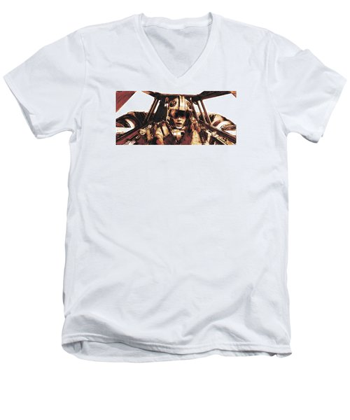Luke Snowalker Men's V-Neck T-Shirt by Kurt Ramschissel