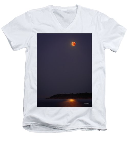 Lunar Eclipse - January 2018 Men's V-Neck T-Shirt