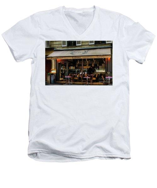 Lunch In Paris Men's V-Neck T-Shirt
