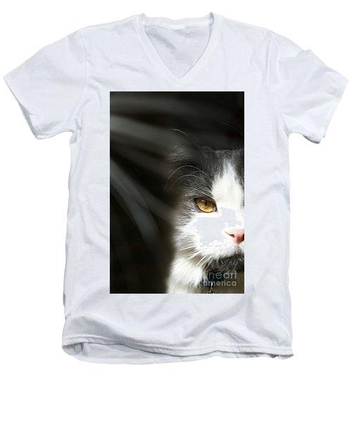 Lurking In The Shadows  Men's V-Neck T-Shirt by Scott D Van Osdol
