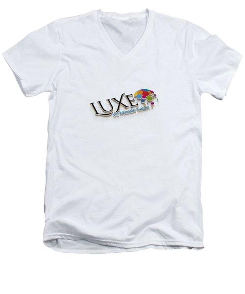 Luxe Logo 3d 2 Men's V-Neck T-Shirt
