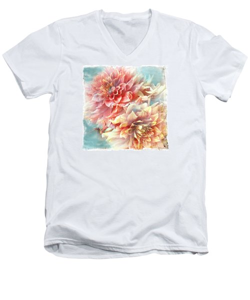 Lynia Dahlia Men's V-Neck T-Shirt
