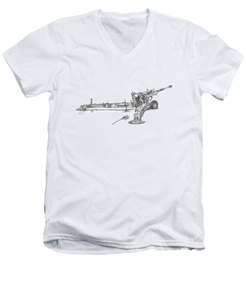 M198 Howitzer - Standard Size Prints Men's V-Neck T-Shirt