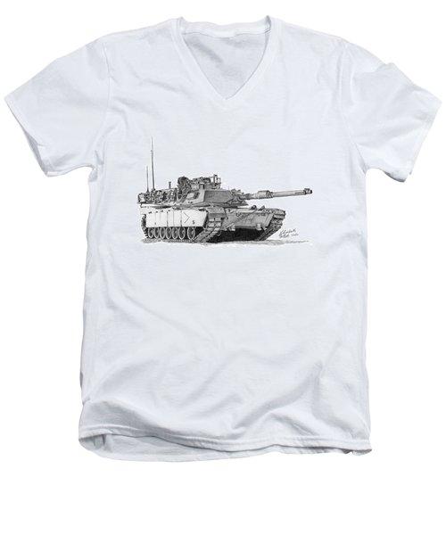 M1a1 B Company Commander Tank Men's V-Neck T-Shirt